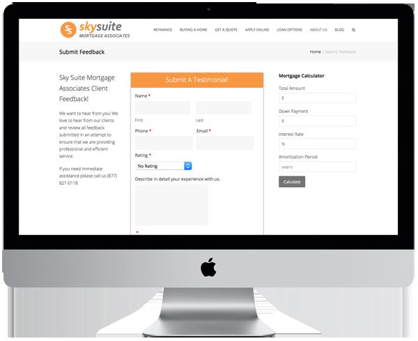 Mortgage Website Testimonial