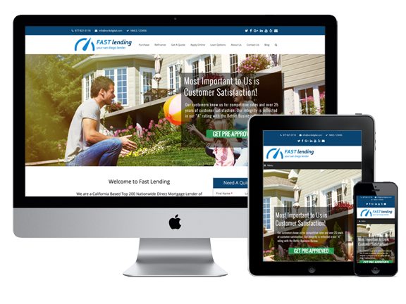 Responsive Mortgage Website Design and Template