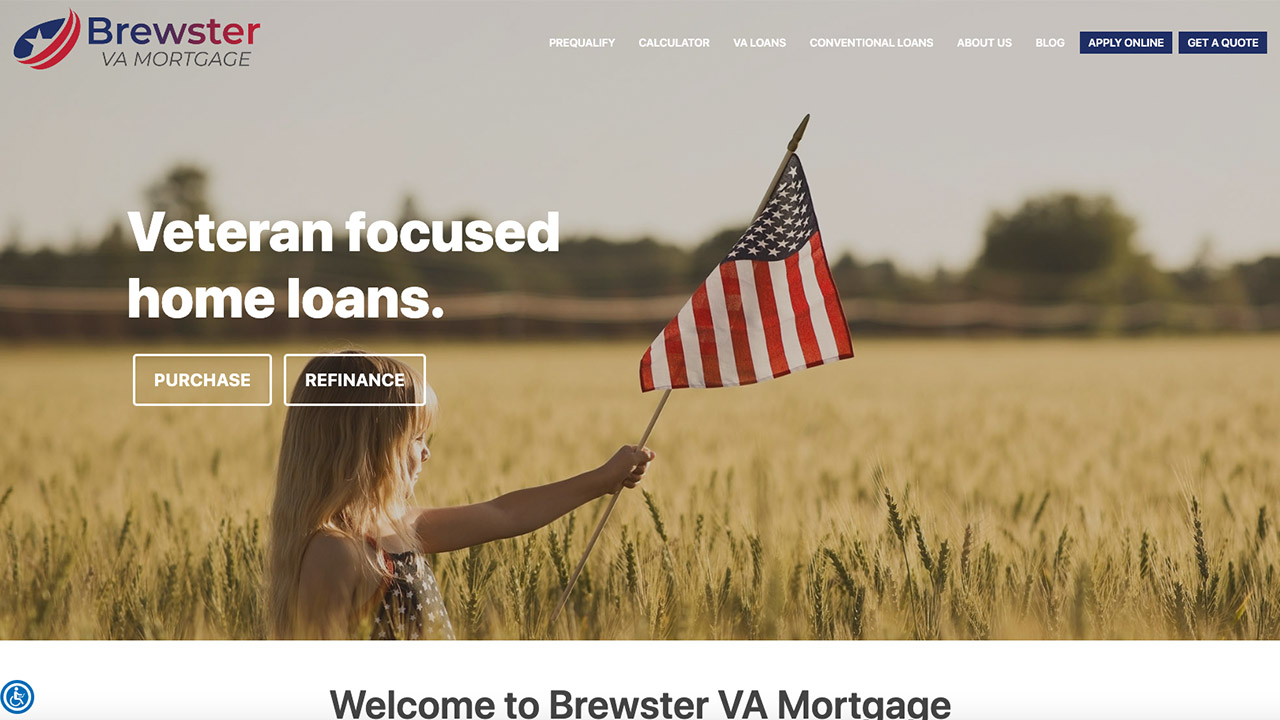 Mortgage Website Design For VA Loans