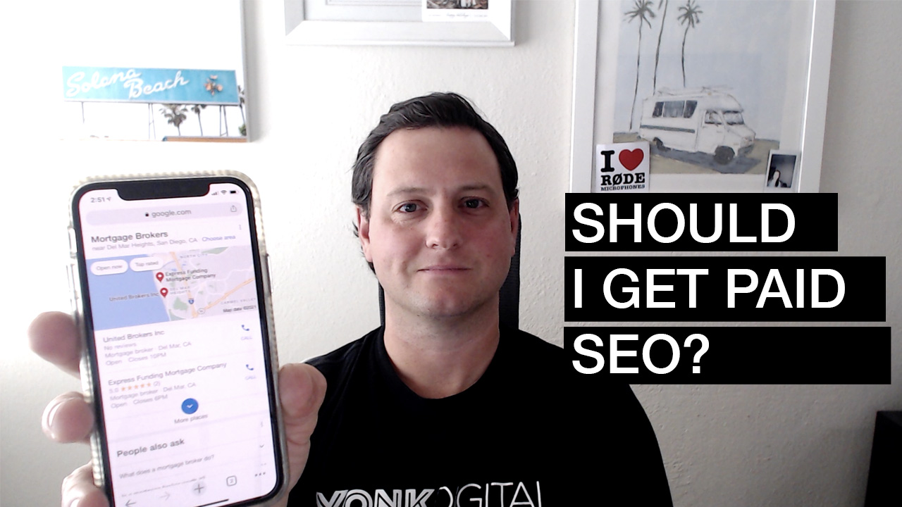 holding phone with google-search